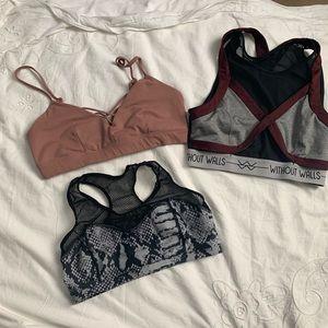 Trio of sports bras